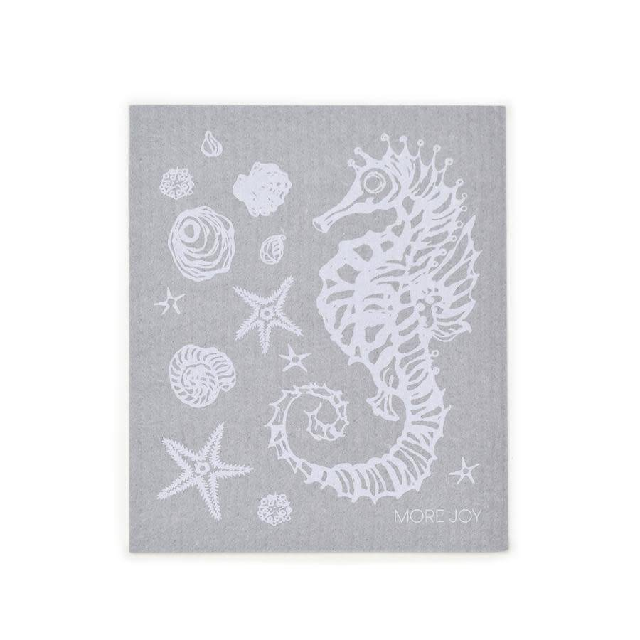 Sweetgum Seahorse Grey Swedish Dishcloth