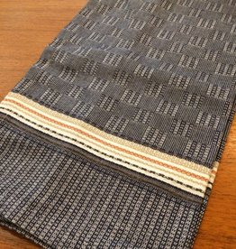 Coyuchi Textured Grid Kitchen Towel, 20 x 30 - Navy
