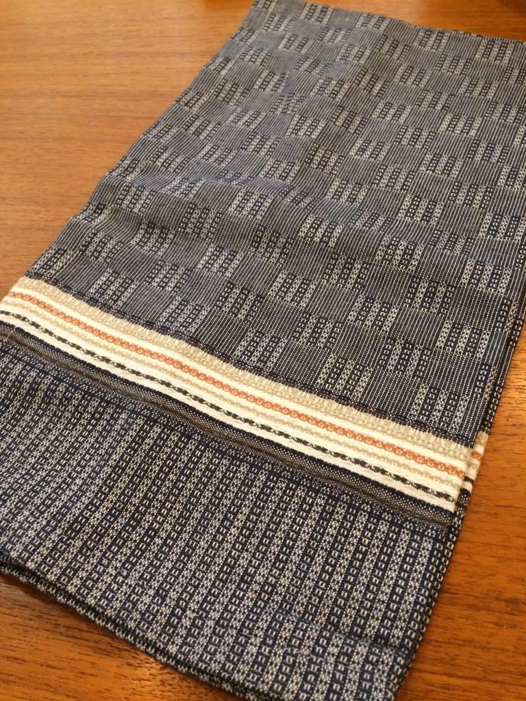 Coyuchi Textured Grid Kitchen Towel, 20 x 30 - Navy