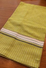 Coyuchi Textured Grid Kitchen Towel, 20 x 30 - Green