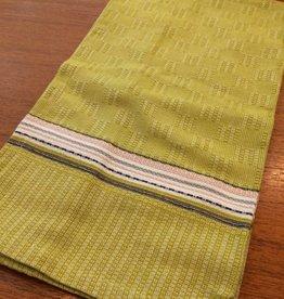 Coyuchi Textured Grid Kitchen Towel, 20 x 30 - Green