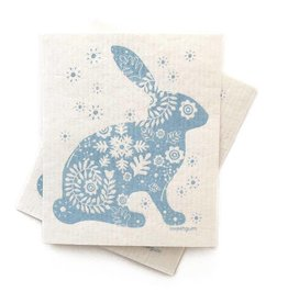 Sweetgum Blue Bunny Swedish Dishcloth