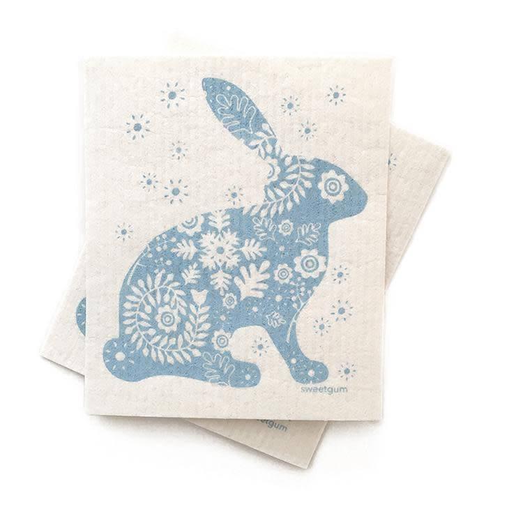 Sweetgum Blue Bunny Swedish Dishcloth