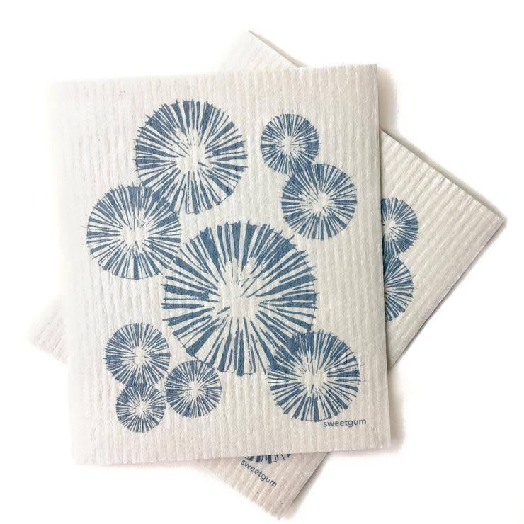 Sweetgum Blue Pinecone Swedish Dishcloth