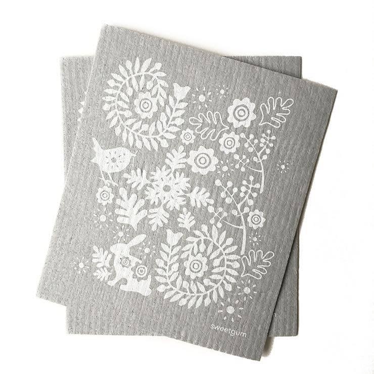 Sweetgum Grey Garden Swedish Dishcloth
