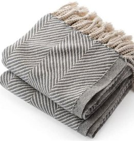 Brahms Mount Monhegan Throw - Natural/Grey