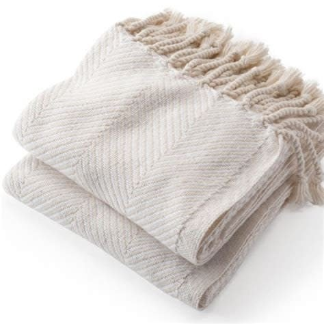 Brahms Mount Monhegan Throw - Natural/White