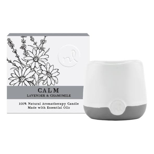 Prana Calm Aromatherapy Candle - 4 oz, Lavender and Chamomile