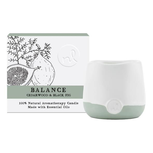 Prana Balance Aromatherapy Candle - 4 oz, Cedarwood and Black Fig