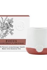 Prana Focus Aromatherapy Candle - 4 oz, Blackcurrant and Lemongrass