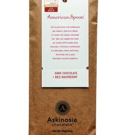 Askinosie Chocolate American Spoon Chocolate Bar, Dark Chocolate + Red Raspberry