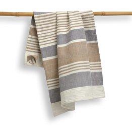 "Sustainable Threads Cotton Hand Woven Kitchen Towel, 27"" x 19"" - Pebble"