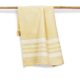"Sustainable Threads Cotton Hand Woven Kitchen Towel,  27"" x 19"" - Butter"