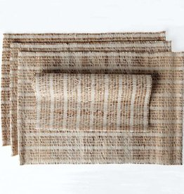"Sustainable Threads Banana Bark and Cotton Placemat, 13"" x 19""  - Madeleine"