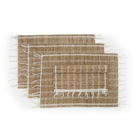 "Sustainable Threads Banana Bark and Cotton Placemat, 13"" x 19"" - Zeppole"