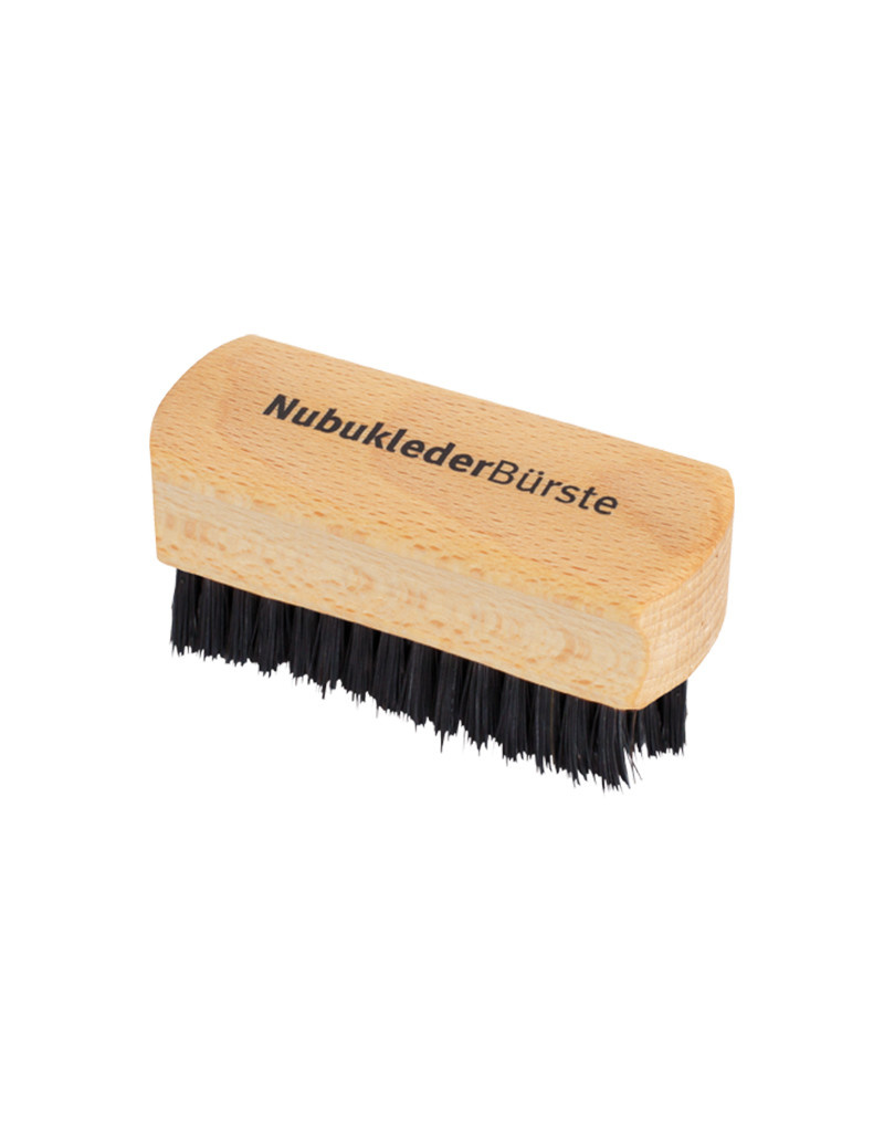 Burstenhaus Redecker Nubuk Leather Brush, Beechwood, Boars Bristle