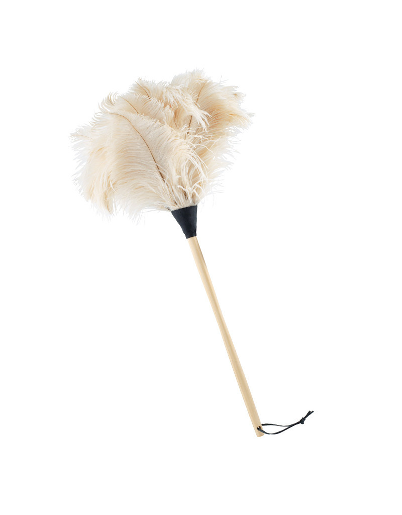 Burstenhaus Redecker Ostrich Feather Duster, White - 70 cm