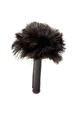 Burstenhaus Redecker Skin Relaxer, Black Ostrich Feather with Leather Handle