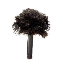 Burstenhaus Redecker Skin Relaxer, Black Ostrich Feather with Leather Handle