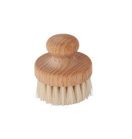 Burstenhaus Redecker Round Face Brush, Beechwood, Light Bristle