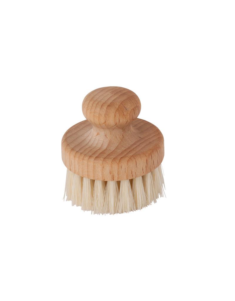 Burstenhaus Redecker Round Face Brush, Beechwood, Light Bristle