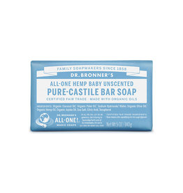 Dr. Bronner's Dr. Bronner's Castile Bar Soap, Unscented 5 oz.