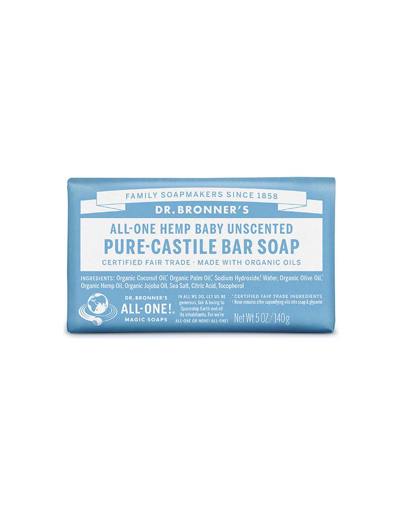 Dr. Bronner's Dr. Bronner's Castile Bar Soap, Unscented 5 oz.