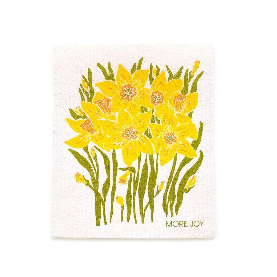 Sweetgum Daffodils Swedish Dishcloth