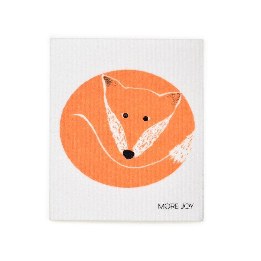 Sweetgum Orange Fox Swedish Dishcloth