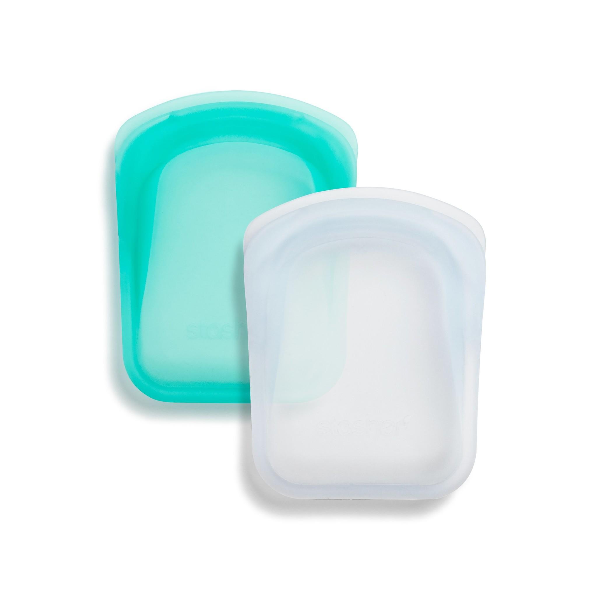 Stasher Pocket 2-Pack Storage Bag - Aqua/Clear