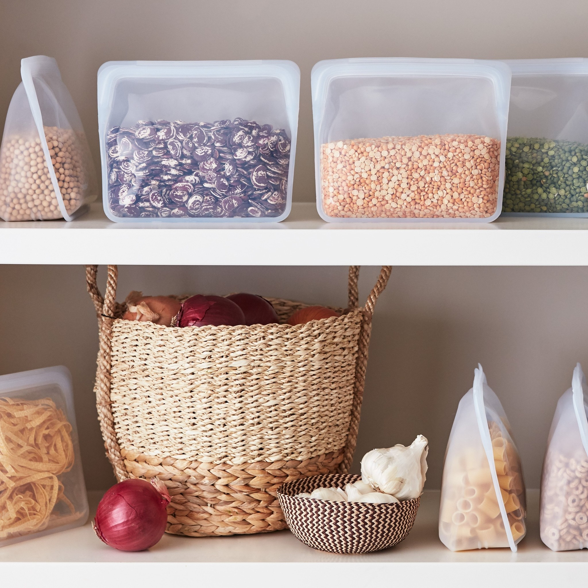 Stasher Stand-Up Storage Bag - Clear