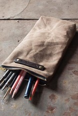 Peg and Awl The Scribbler Waxed Canvas Pouch - Tumbleweed
