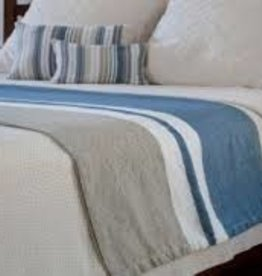 Brahms Mount Harbor Day Blanket - Blue/Ivory/Earth