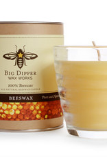 Big Dipper Wax Works Beehive Votive, Glass w Candle, 4.2 oz. - Natural (35 Hr. Burn)