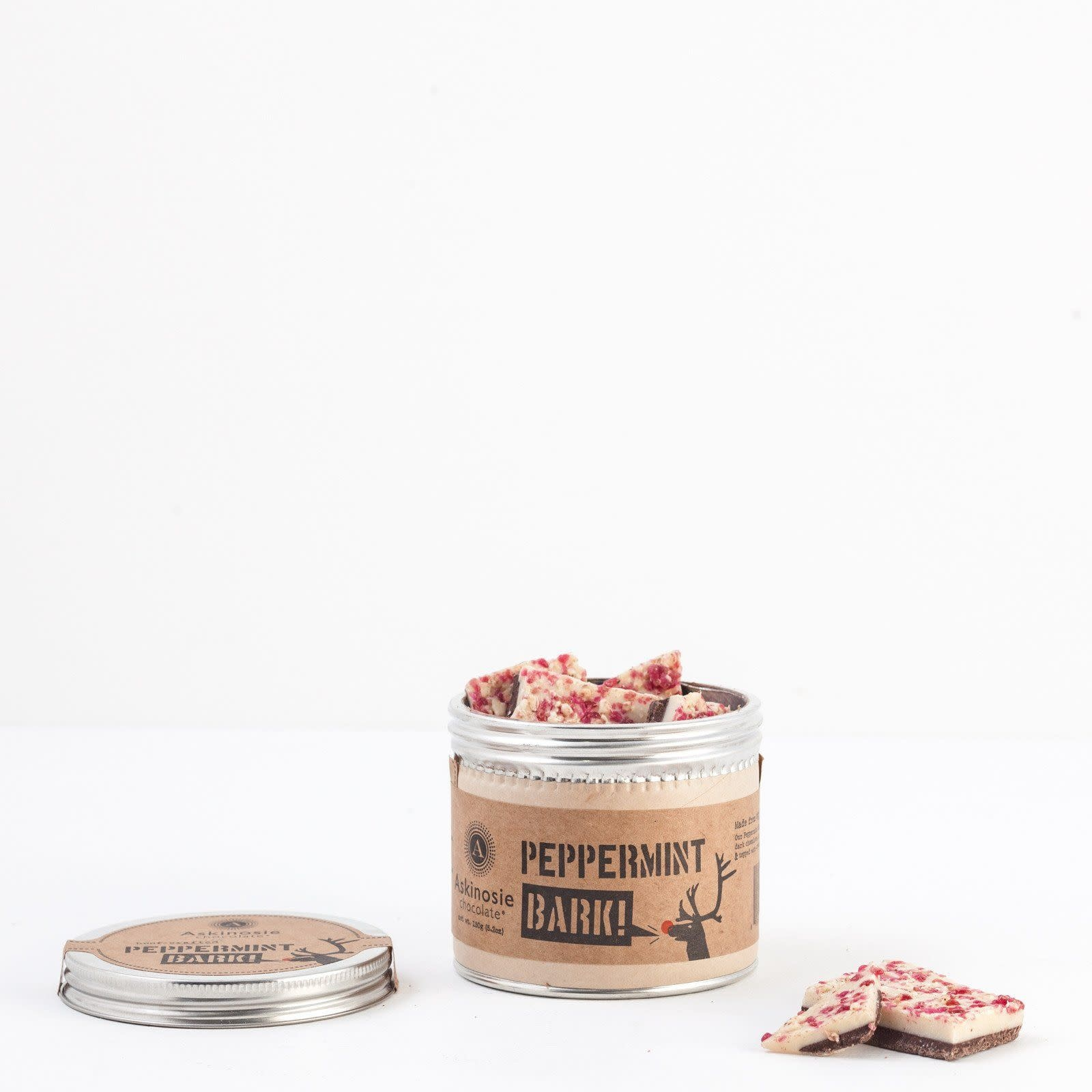 Askinosie Chocolate Peppermint Bark, Sm. Tin 150g