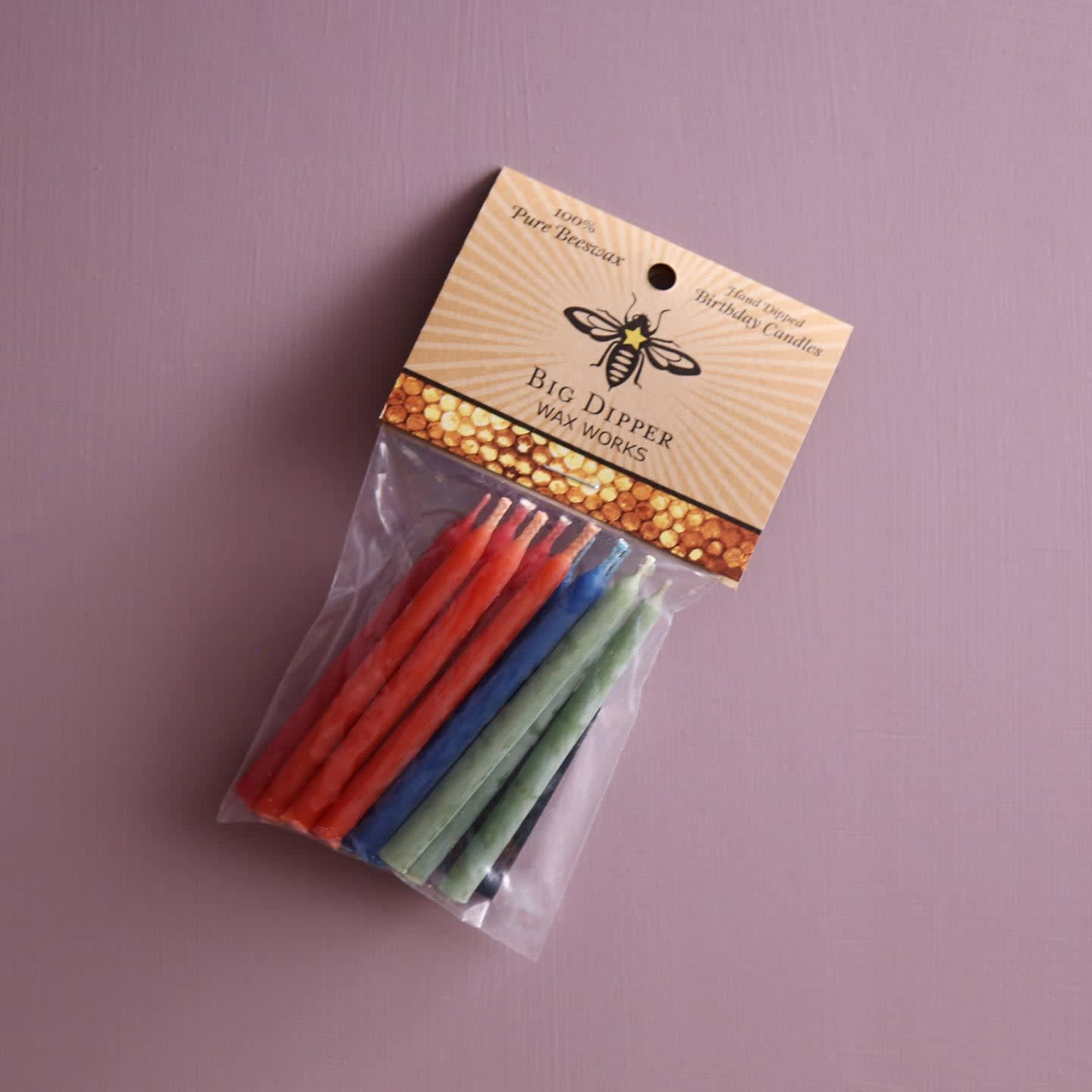 Big Dipper Wax Works Beeswax Mini Candles - Multi-colored