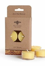 Big Dipper Wax Works Beeswax Tea Lights, 6 Pack - Natural (5 Hr. Burn)