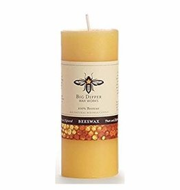 "Big Dipper Wax Works Beeswax Pillar, 2"" x 4.75"" - Natural (40 Hr. Burn)"