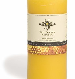 "Big Dipper Wax Works Beeswax Pillar, 3"" X 6"" - Natural (90 Hr. Burn)"