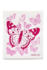 Sweetgum Pink Butterflies Dishcloth