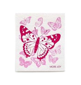 Sweetgum Pink Butterflies Dishcloth