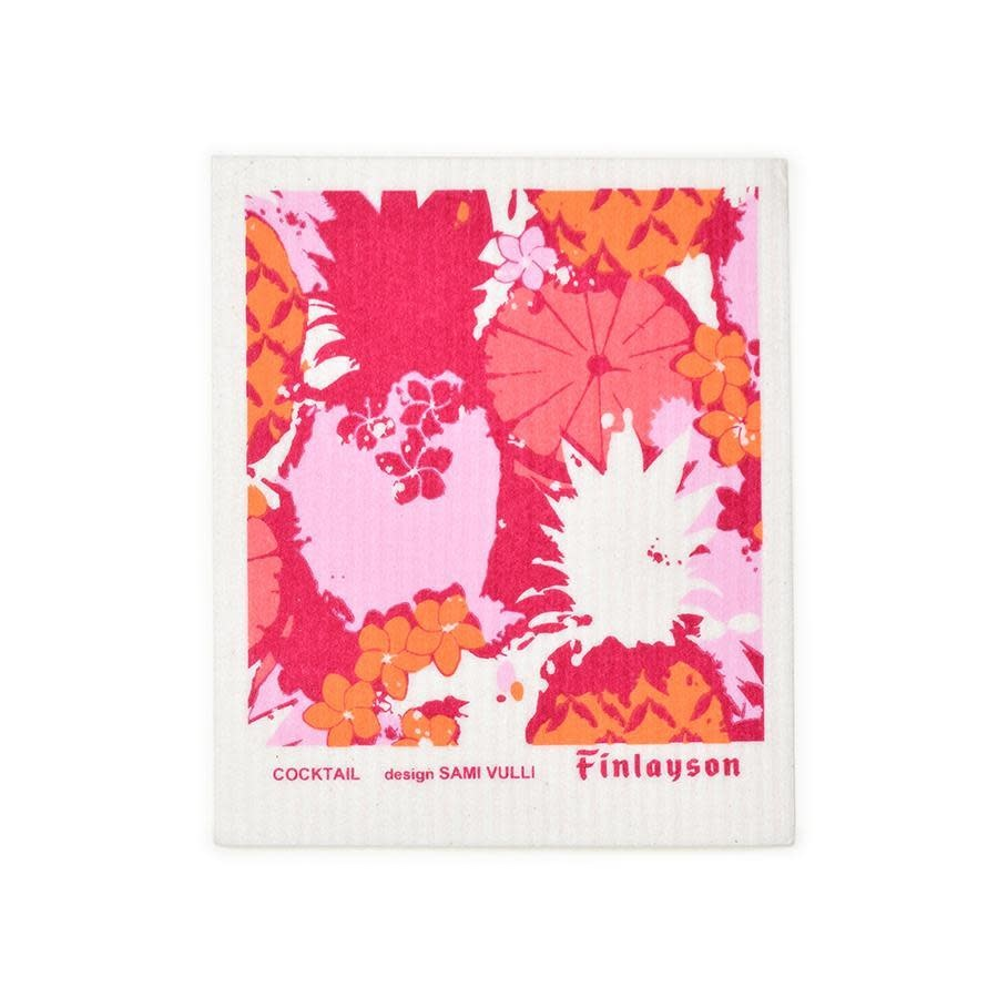 Sweetgum Cocktail, Pink and Orange Dishcloth