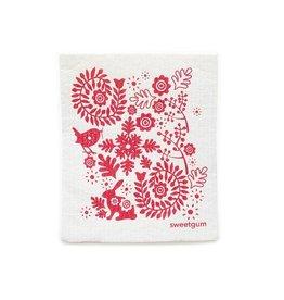 Sweetgum Red Garden Dishcloth