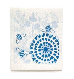 Sweetgum Blue Bloom Pollinators DIshcloth