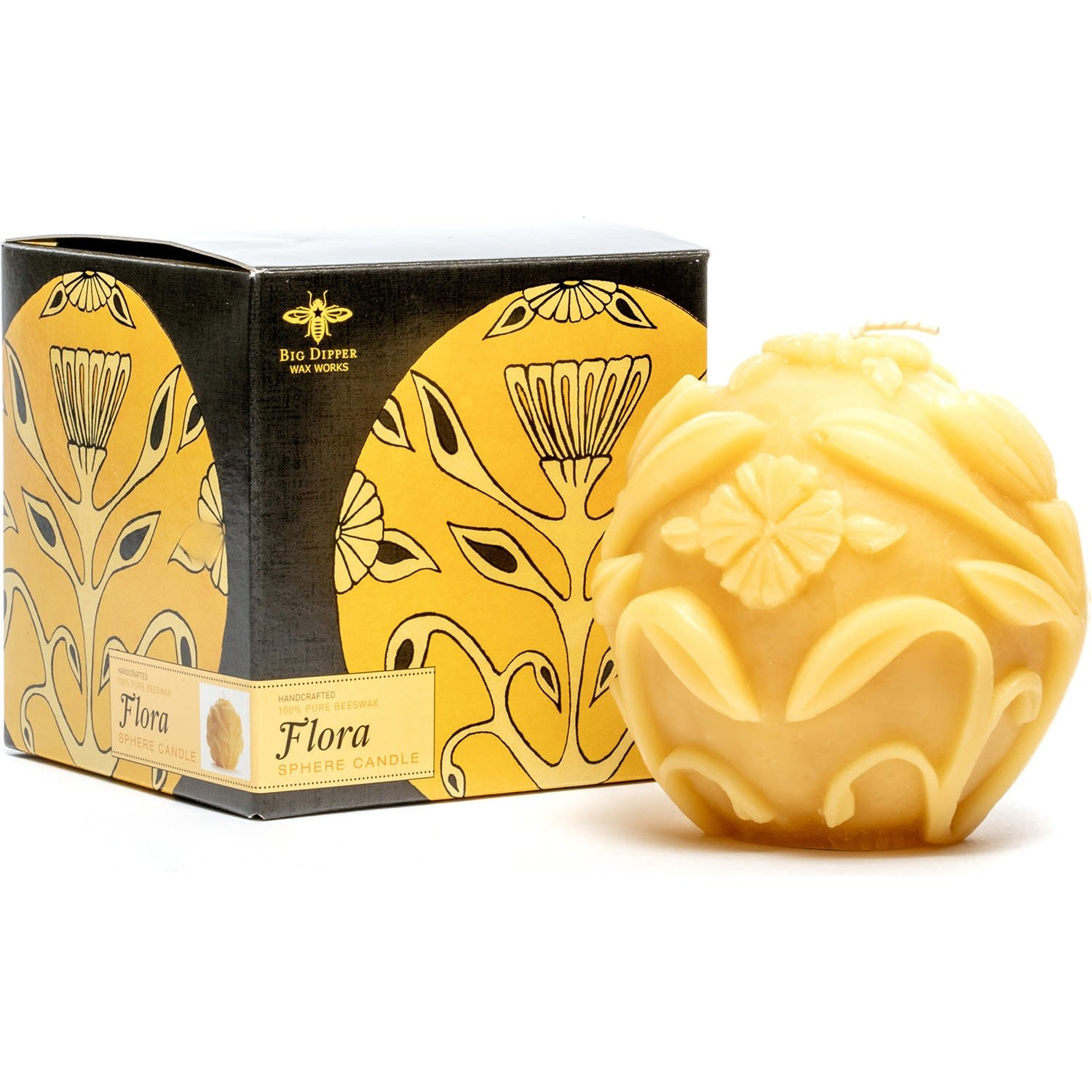 "Big Dipper Wax Works Beeswax 4"" Sphere -"