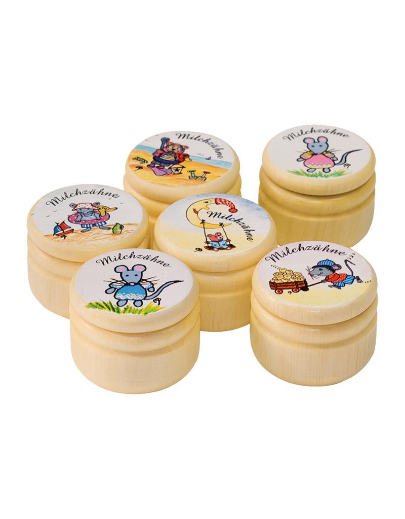 Burstenhaus Redecker Milk Tooth Box, Milchzahne - German
