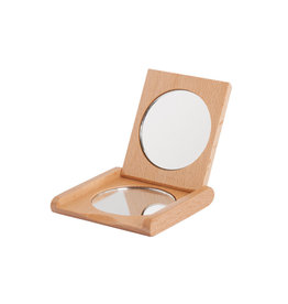 Burstenhaus Redecker Pocket Folding Mirror, Beechwood