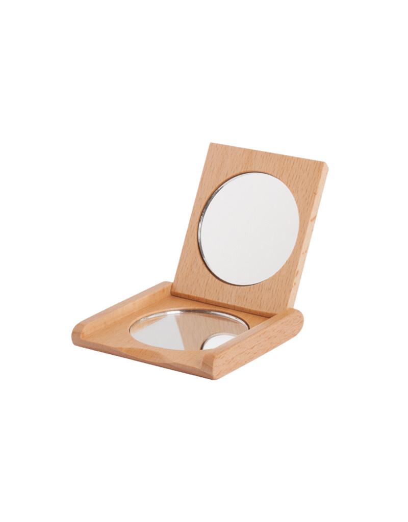 Burstenhaus Redecker Pocket Folding Mirror, Beechwood
