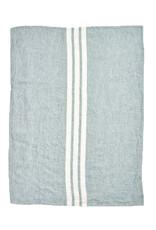 "Libeco Belgian Linens Chicksaw Linen Guest Towel, 23.6"" x  31.5"" -  Sage"