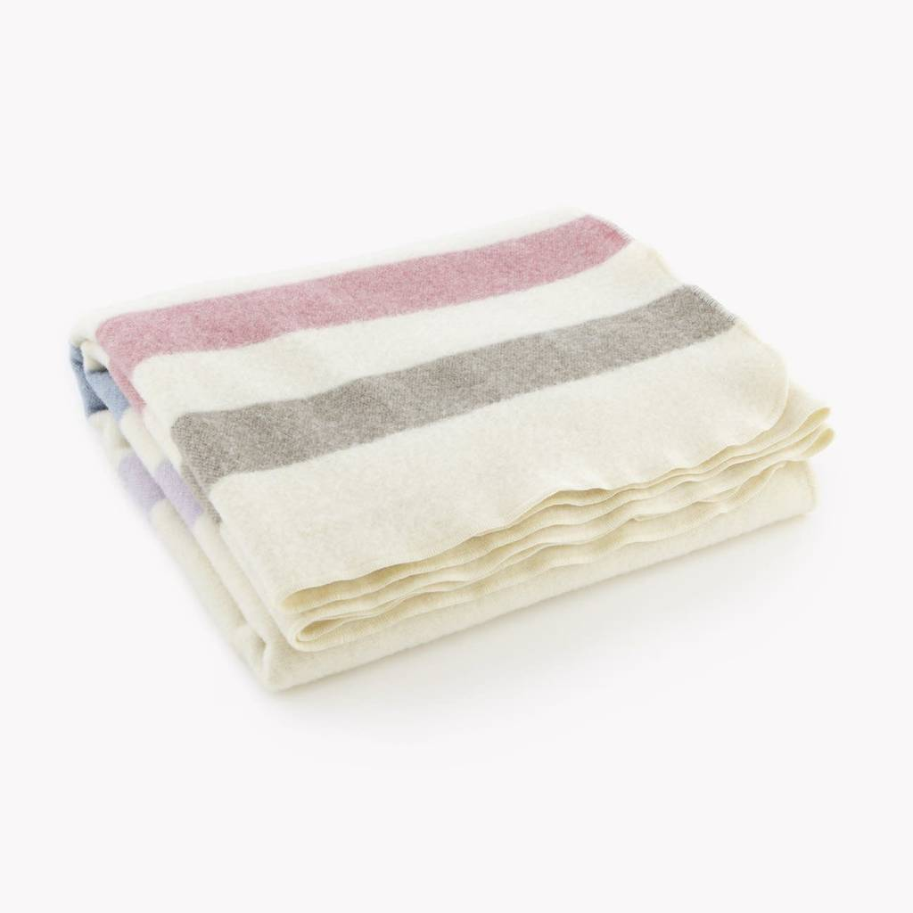 "Faribault Woolen Mill Co. Wool Baby Blanket, 45"" x 45"" - Multi-Colored"